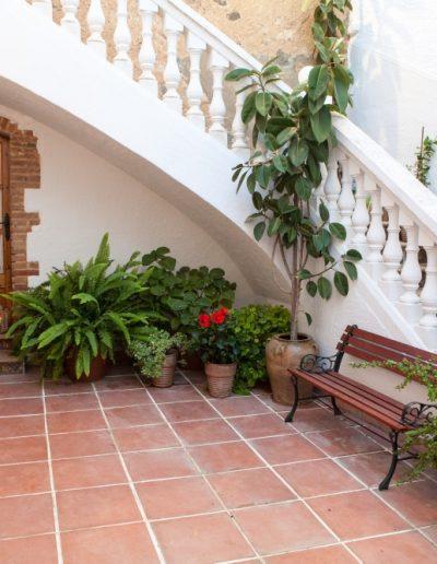 terrassa interior de Cal Xerta